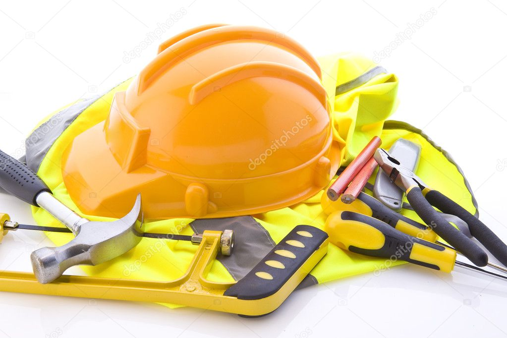 Working tools on white background   Stock Photo #3074665