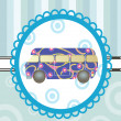 Cartoon bus on background - Imagen vectorial