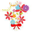 Bouquet of flowers - Imagen vectorial