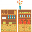 Kitchen furniture - Imagen vectorial