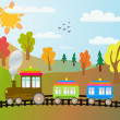 Cartoon train - Stock Vector