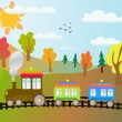Cartoon train — Vector de stock #3749556