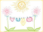 Odzież niemowlęca — Wektor stockowy