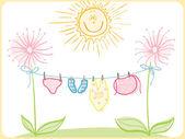 婴儿服装 — 图库矢量图片