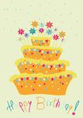 Bolo de aniversário infantil — Vetor de Stock