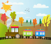Cartoon tåg — Stockvektor