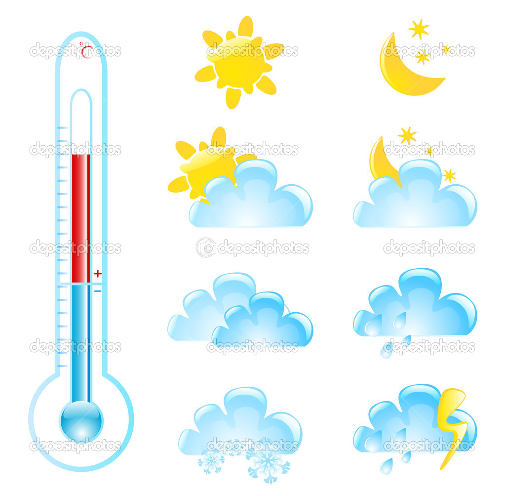 Weather elements — Stock Vector #3749528