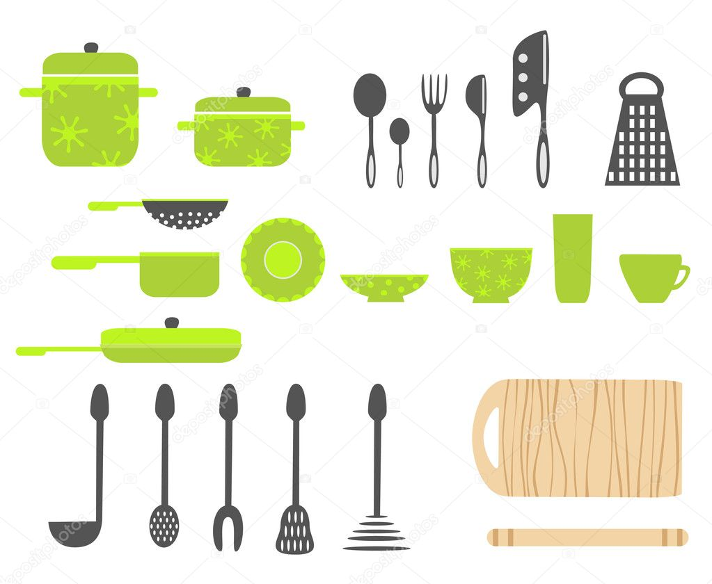 Kitchen utensils | Stock Vector © Natalia Pascari #
