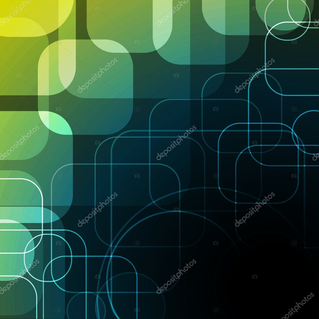 Abstract background with rounded squares eps10  — Stock Vector #3749578