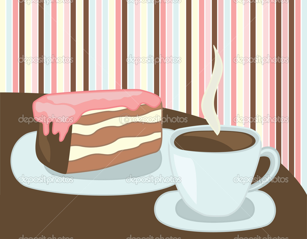 clipart coffee and cake - photo #28