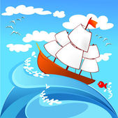 Sailing — Stock Vector