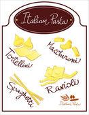 Italian pasta — Stock Vector