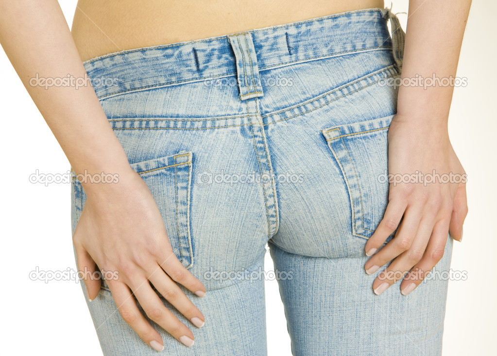 Detail of woman wearing jeans — Stock Photo #2716797