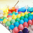 Easter eggs&#039; coloration - Stock Photo