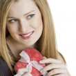 Woman with heart — Stock Photo #2735227