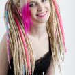 Stock Photo: Woman with dreadlocks
