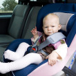 Girl in car seat — Stock Photo #2737798