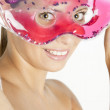 Woman with cooling facial mask — Stock Photo #2752547