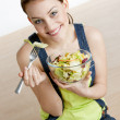 Woman eating salad — Stock Photo #2789416