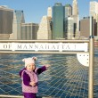 Stock Photo: Little girl at Manhattan