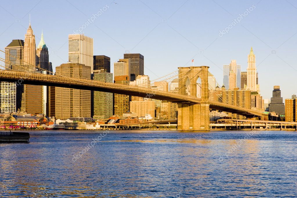 Manhattan with Brooklyn Bridge, New York City, USA — Stock Photo #2799531