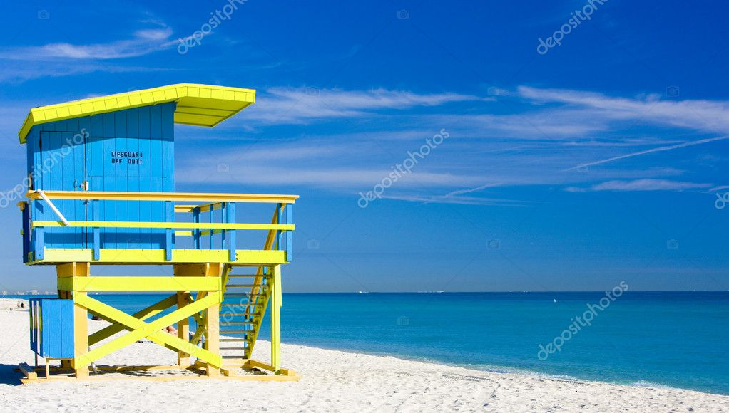 Cabin on the beach, Miami Beach, Florida, USA — Stock Photo #2802881