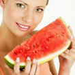 Womwith water melon — Stock Photo #2822365