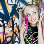 Woman with headphones — Stock Photo #2823058