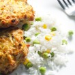 Salmon burgers — Stock Photo