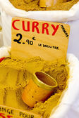 Curry, street market in Castellane, Provence, France — Stock Photo