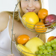 Stock Photo: Woman with fruit