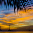 Sunset over the Caribbean Sea — Stock Photo