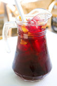 Pitcher of sangria — Stock Photo