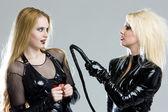Women in latex — Stock Photo
