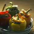 Filled peppers — Stock Photo