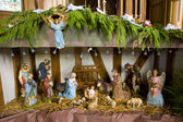 Crib, church in Outines, Champagne, France — Stock Photo