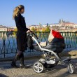 Woman with a pram - Foto de Stock