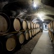 Wine cellar in Burgundy — Stock Photo