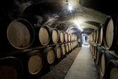 Wine cellar in Burgundy — Stock Photo