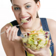 Foto Stock: Eating woman