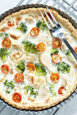 Cake with broccoli — Stock Photo