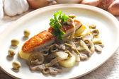 Salmone al forno — Foto Stock