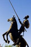 статуя дон кихот — Стоковое фото