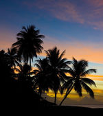 Sunset over Caribbean Sea — Stock Photo