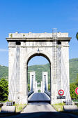 Bridge over Rhone rive — Stock Photo