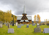 Hedal Stavkirke — Stock Photo