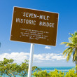 Seven-mile historic bridge — Stock Photo