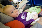 Toddle on plane — Stock Photo