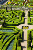 Villandry Castle's garden — Stock Photo