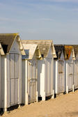 Huts on the beach — Stock Photo